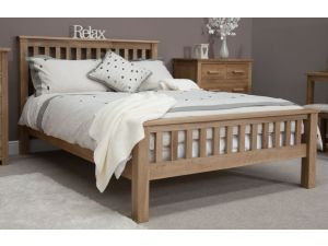 Opus 4ft6 Double High Foot End Oak Bed