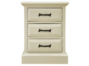 Harrow Off White 3 Drawers Bedside Table