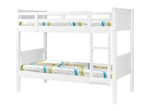 Hillywood 3ft Single White Wooden Bunk Bed