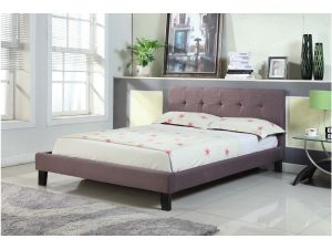 Brighton 5ft King Size Brown Fabric Bed