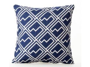 Royalcraft White Square Pattern On Blue Scatter Cushion