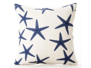 Royalcraft Blue Star Fish White Scatter Cushion