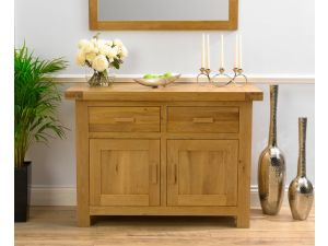 Avignon Solid Oak Sideboard 2 Doors 2 Drawers