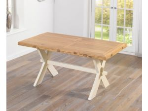 Avignon 165cm Oak and Cream Ext. Dining Table
