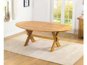 Avignon 165cm Solid Oak Ext. Dining Table