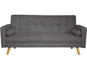 Boscastle 3 Seater Charcoal Grey Fabric Sofa Bed