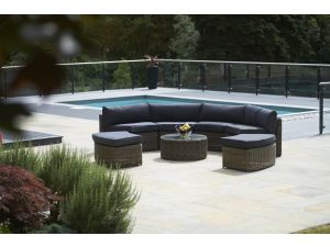 Bridgman Mayfair 7 Piece Curved Sofa Suite Set with Coffee Table