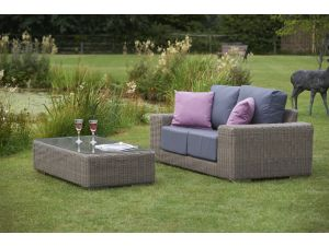 Bridgman Kingston 2 Seater Rattan Sofa And Coffee Table