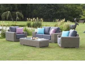 Bridgman Kingston 2 Seat Sofa Set With Waterproof Cushions Inc Coffee Table