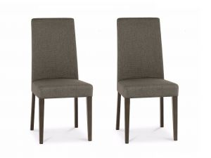 Bentley Designs Miles Walnut Taper Back Titanium Fabric Chairs (Pair)