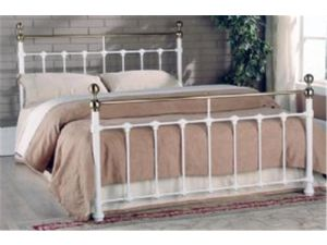 Limelight Tarvos 5ft King Size White Metal Bed