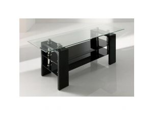 Calico Black Glass TV Stand