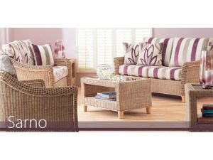Cane Sarno 2.5+1+1 Seater With Scatter Back Cushions Sofa Set