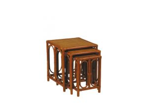 Cane Nest Of 3 Woven Topped Tables