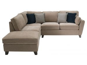 Cantrell Almond Fabric LHF Corner Sofa Group With Scattter Cushions