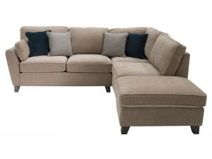 Cantrell Almond Fabric RHF Corner Sofa Group With Scattter Cushions