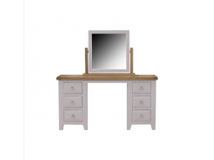 Clemence Grey Oak Dressing Table And Stool Set