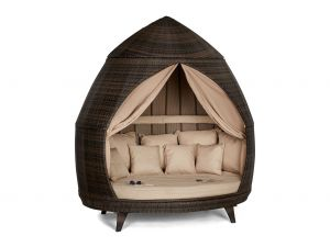 Maze Casbah Brown Rattan Daybed