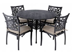 Hartman Celtic Cast Aluminium 4 Seater Garden Set with Cushions and Parasol