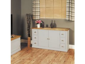 Chadwick Grey Painted Small Sideboard With Six Drawers