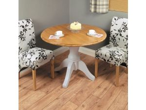 Chadwick Grey Painted Round Dining Table