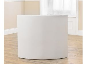 Sophia Smooth White PU Leather Upholstered Chair X 2