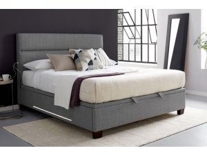Chilton 4ft6 Double Artemis Light Grey Ottoman Storage Fabric Bed