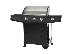 Royalcraft Master Cook Black Classic 300 3 Burner BBQ with Side Burner