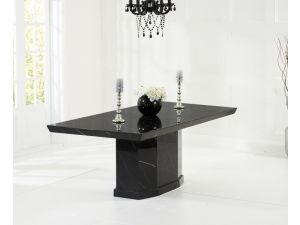 Como Black Constituted Marble Dining Table