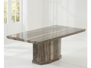 Como 200cm Brown Constitued Marble Dining Table