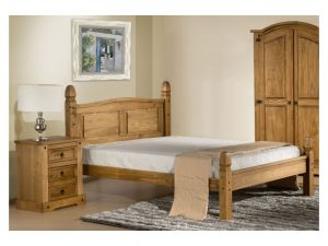 Birlea Corona Solid Pine 4ft Small Double Low End Bed