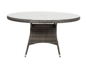 Royalcraft Dallas 140cm Round Brown Rattan Dining Table