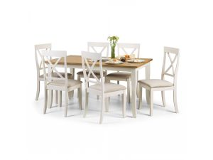 Julian Bowen Davenport Oak Dining Table and 6 Chairs