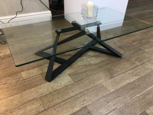 Chelsom Constellation Clear Glasss Rectangular Coffee Table