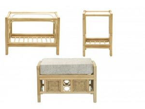Desser Lugano Nest of Table And Footstool