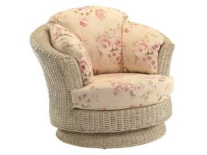 Desser Lyon Swivel Chair And Cushion