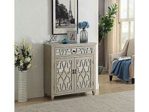 Gallo Champagne Mirrored 2 Doors 1 Drawer Chest