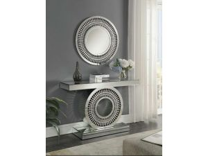 Crystal Mirrored Console And Mirror Set