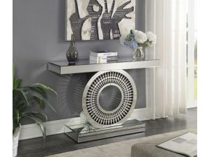 Crystal Mirrored Console Table