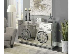 Crystal Mirrored 4 Door Sideboard