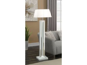 Malibu White Mirrored Floor Lamp