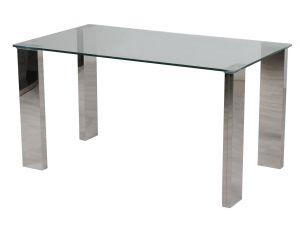 Fairmont Dakota 140cm Clear Glass Dining Table