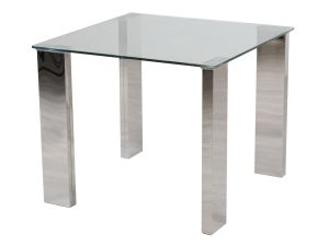 Fairmont Dakota 90cm Square Clear Glass Dining Table