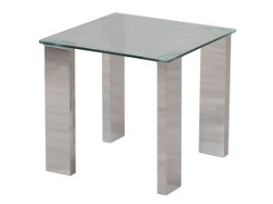 Fairmont Dakota Clear Glass Side Table