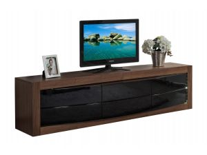 Fairmont Doulton Walnut High Gloss Entertainment Unit With LED