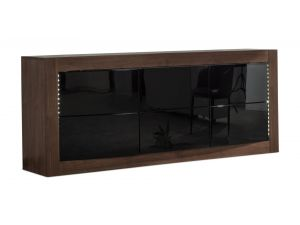 Fairmont Doulton Walnut High Gloss Sideboard With LED