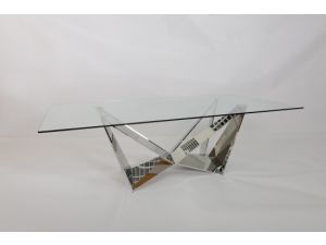 Fairmont Florentina Glass and Stainless Steel Coffee Table
