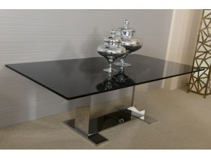 Fairmont Donatella Glass and Stainless Steel Coffee Table
