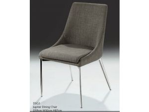 Chelsom Jupiter Grey Fabric Dining Chair