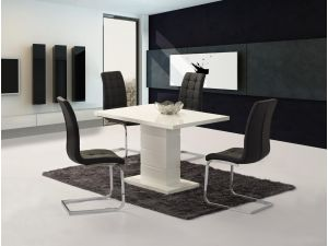 Ice White High Gloss Small Dining Table